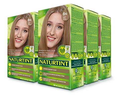Permanent Colorant Hair (Naturtint Permanent Hair Colorant, 8n Wheat Germ Blonde - 5.28 Fl Oz (6-pack))