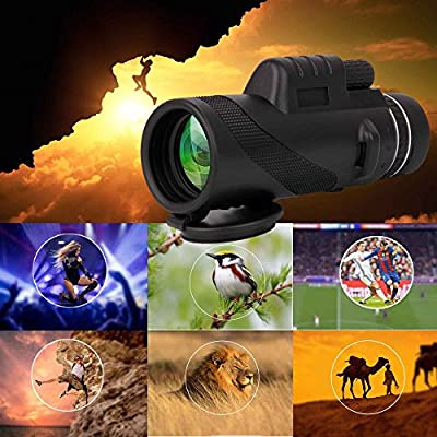 Monocular Dual Focus Optics Zoom 40X60 Single-tube Telescope Waterproof Wide Angle Lens With Tripod For Phone Bird Watching Camping Hiking Hunting Live Concert Surveillance