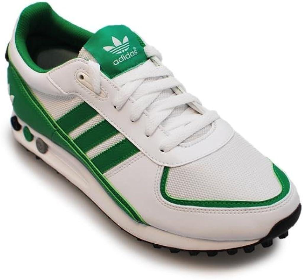 Herren Adidas LA TRAINER II Weiß Grün Schuhe S82664 UK 9,5