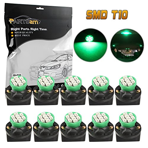 Royal Estate Green (Partsam 10pcs Green T10 194 W5W LED Light Bulb 8-Epistar-SMD With Twist Lock Sockets Instrument Panel Speedometer Odometer Temp Gauges Lighting Indicators Lamp)