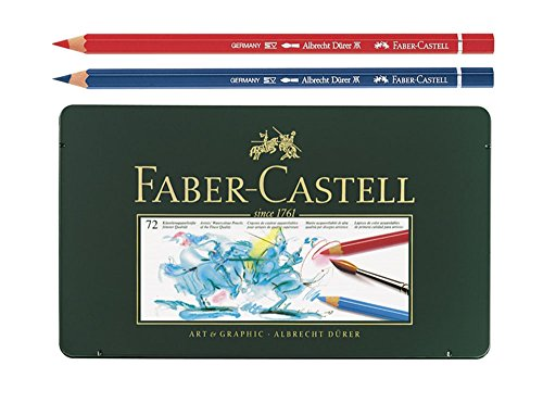 Faber Castell Albrecht Dürer Watercolor Color Colored Artists Pencils Metal Tin Set of 72 by A.W. FABER-CASTELL