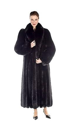 d765743f0 Madison Avenue Mall Womens Long Fox Fur Coat Plus Size Full Length Black -  SZ 6