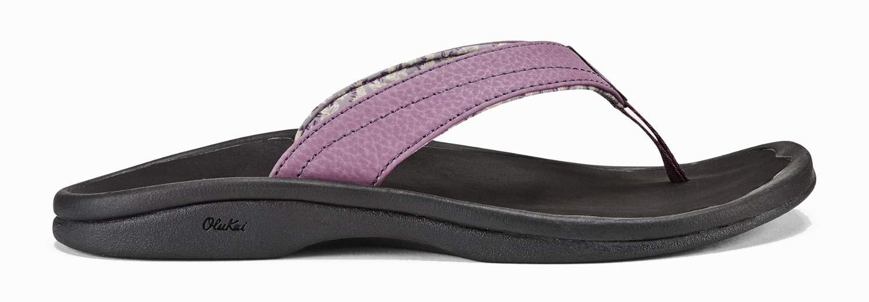 OLUKAI Women's Ohana Sandal, Mauve/Black, 5 M US