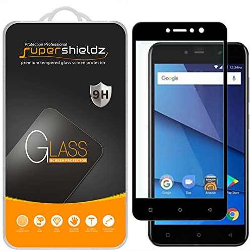 [2-Pack] Supershieldz for BLU VIVO 8L Tempered Glass Screen Protector, [Full Screen Coverage] Anti-Scratch, Bubble Free, Lifetime Replacement (Black)