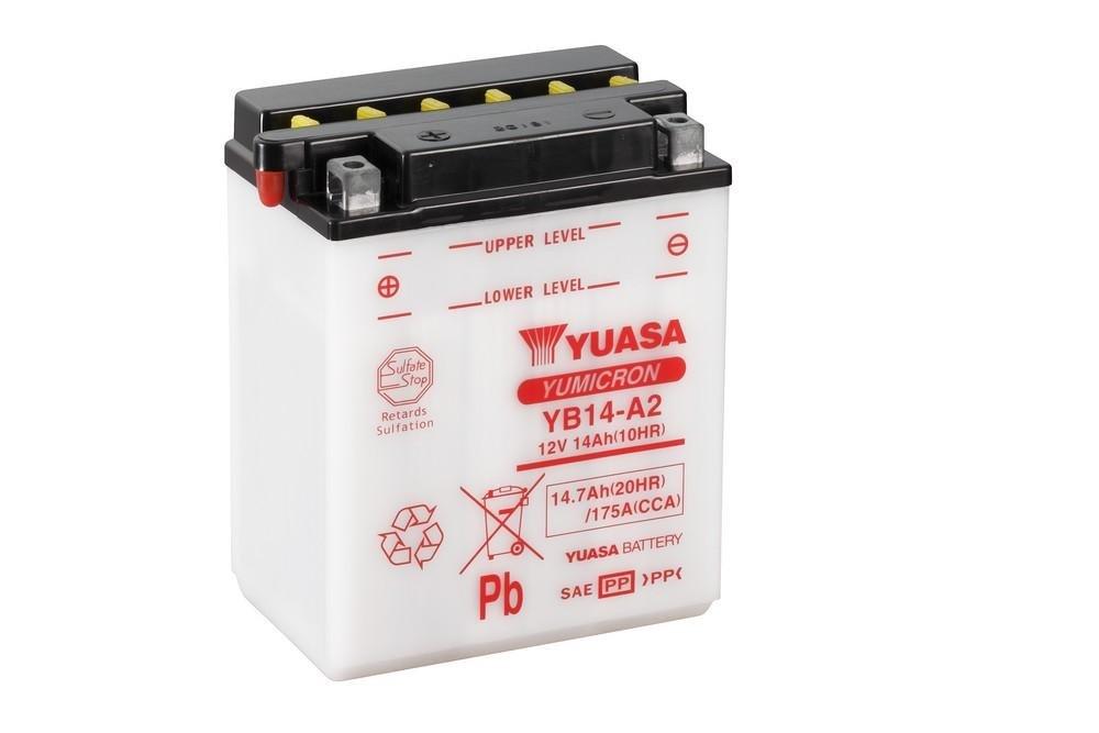 YUASA BATTERY YB14-A2 open without acid YB14-A2 -Y