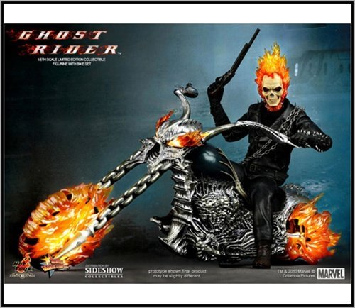 r Piece Marvel Ghost Rider Limited Edition Figure With Hellcycle 12
