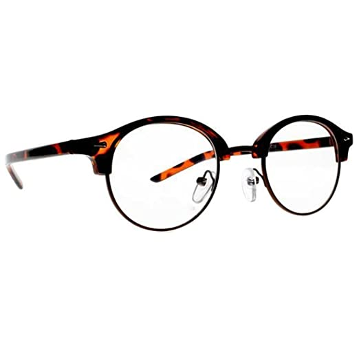3d252449d6 New Metal Frame Unisex Retro Round Frame Clear Lens Reading Glasses  Lightweight (Leopard