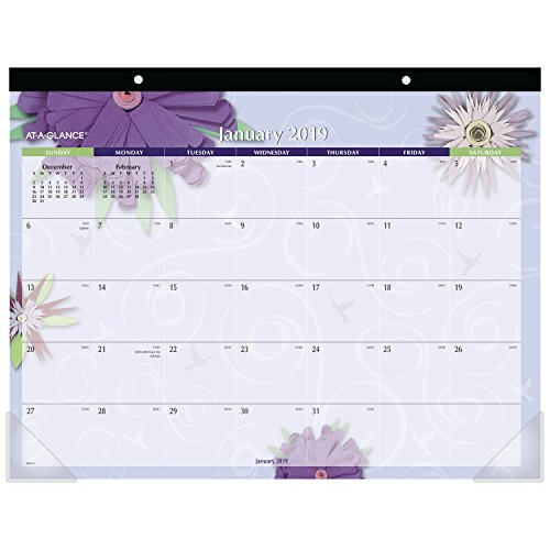 (AT-A-GLANCE 2019 Desk Calendar, Desk Pad, 21-3/4