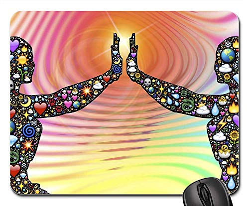 Mouse Pad - Alive Energy Divine Silhouette Life Emoji Body