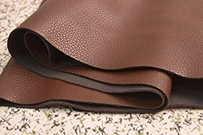 Wento 1.0mm Dark Brown Leather,wearproof Sofa Leather Fabric,furniture Leather,car Seat Leather Fabric,1.0mm Thickness Upholster Pleather for Furniture Cover,table Cover,handrail Cover,wearproof Leather Fabric,wide 54'' Sold By Half Yard (#5)