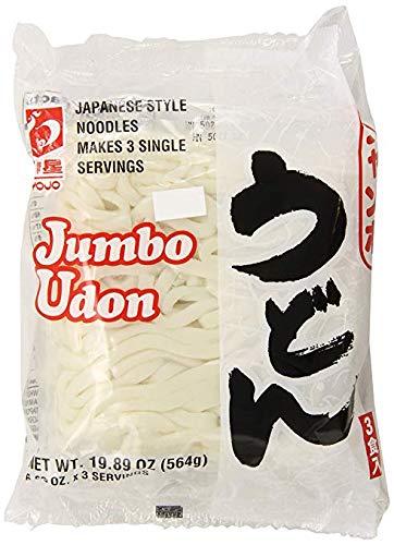 Myojo Jumbo Udon Noodles, No Soup, 19.89 Ounce (Pack of 4) by Myojo