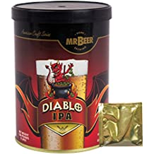 Mr. Beer Diablo IPA 2 Gallon Homebrewing Craft Beer Making Refill Kit with Sanitizer, Yeast and All Grain Brewing Extract Comprised of the Highest Quality Barley and Hops