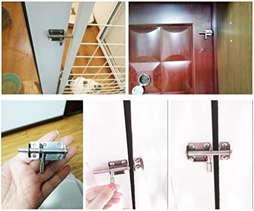 YUOIP® Pestillo de acero inoxidable para puerta corredera, cerradura de seguridad para puerta de baño, inodoro, ventana, muebles, puerta de mascota, cerradura (1 pieza): Amazon.es: Bricolaje y herramientas
