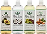 100-Pure-Carrier-Oil-VARIETY-4-PACK-16-Ounce-Bottles-Fractionated-Coconut-Oil-Grapeseed-Oil-Avocado-Oil-and-Sweet-Almond-Oil