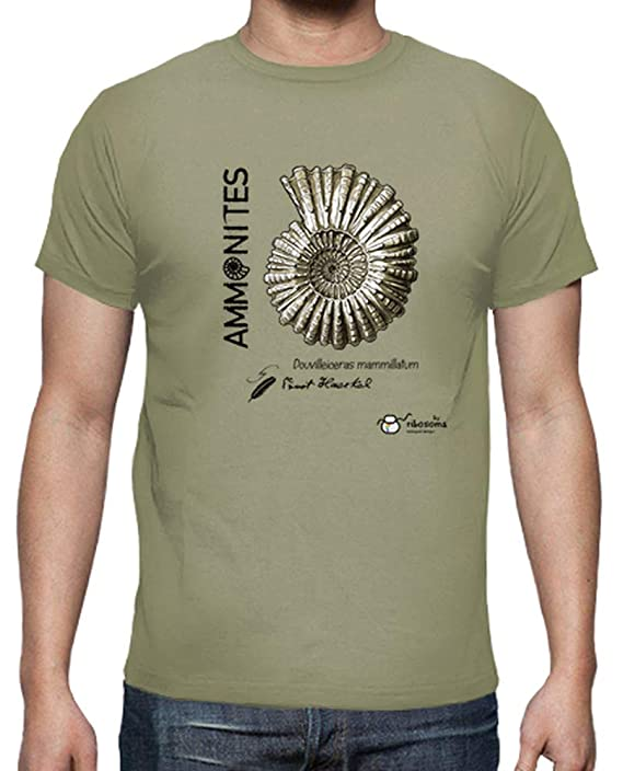 Camiseta para hombre biologo con Ammonites