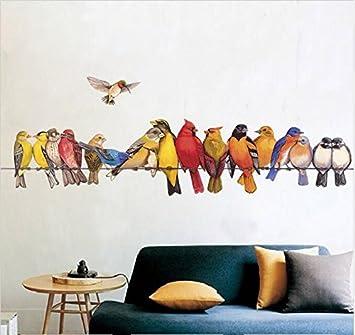 HALLOBO® Wandtattoo Vogel Vögel Papagei Birds XXL Wandsticker ...