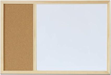 Lavagna Nera con Cornice in Legno 40x60 cm Bacheca Gesso