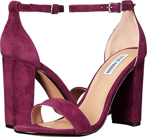 Steve Madden Women's Carrson Heeled Sandal, Burgundy Suede, 10 M US -