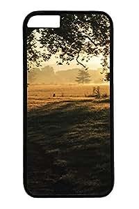 iPhone 6 Case - Illustrators Series Protective Hard Black Case Cover Skin For iPhone 6 (4.7 inch) Natural Landscape