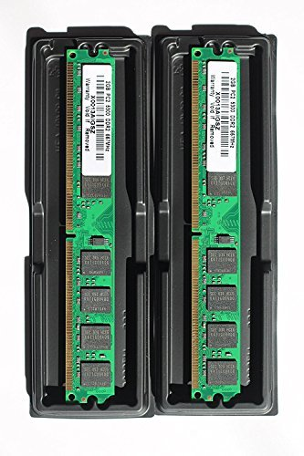 MadFortune 4GB kit (2x2GB) DDR2 PC2-5300 Desktop Memory Modules (240-pin DIMM, 667MHz) ()