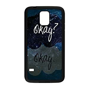 C-QUE Customized Print Okay Okay Hard Skin Case Compatible For Samsung Galaxy S5 I9600