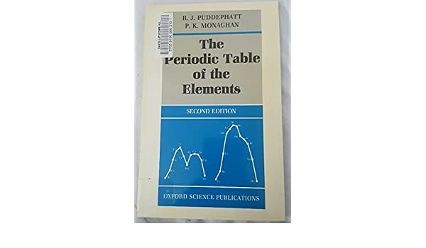 The periodic table of elements oxford chemistry series r j the periodic table of elements oxford chemistry series r j puddephatt p k monaghan 9780198555162 amazon books urtaz Choice Image