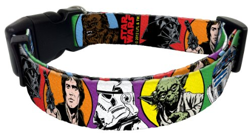 Star Wars Dog Collar Size: Small (Fits 8″ to 12″ Neck), Design: Classic, My Pet Supplies
