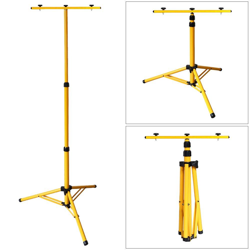 VINGO/® 2x 50W LED Fluter Akku Baustrahler 4400mA Wiederaufladbare Scheinwerfer handlampe 4500LM Kaltwei/ß mit Doppelt Teleskop-Stativ