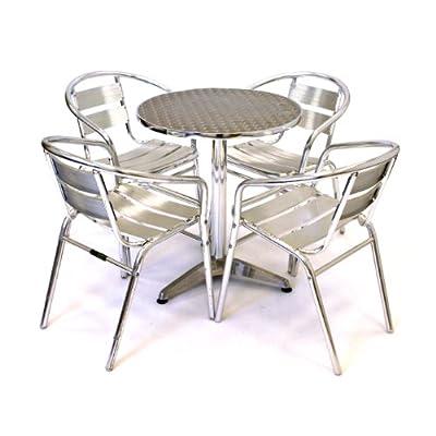 BE Furniture 4 Seater Aluminium Outdoor Dining Set