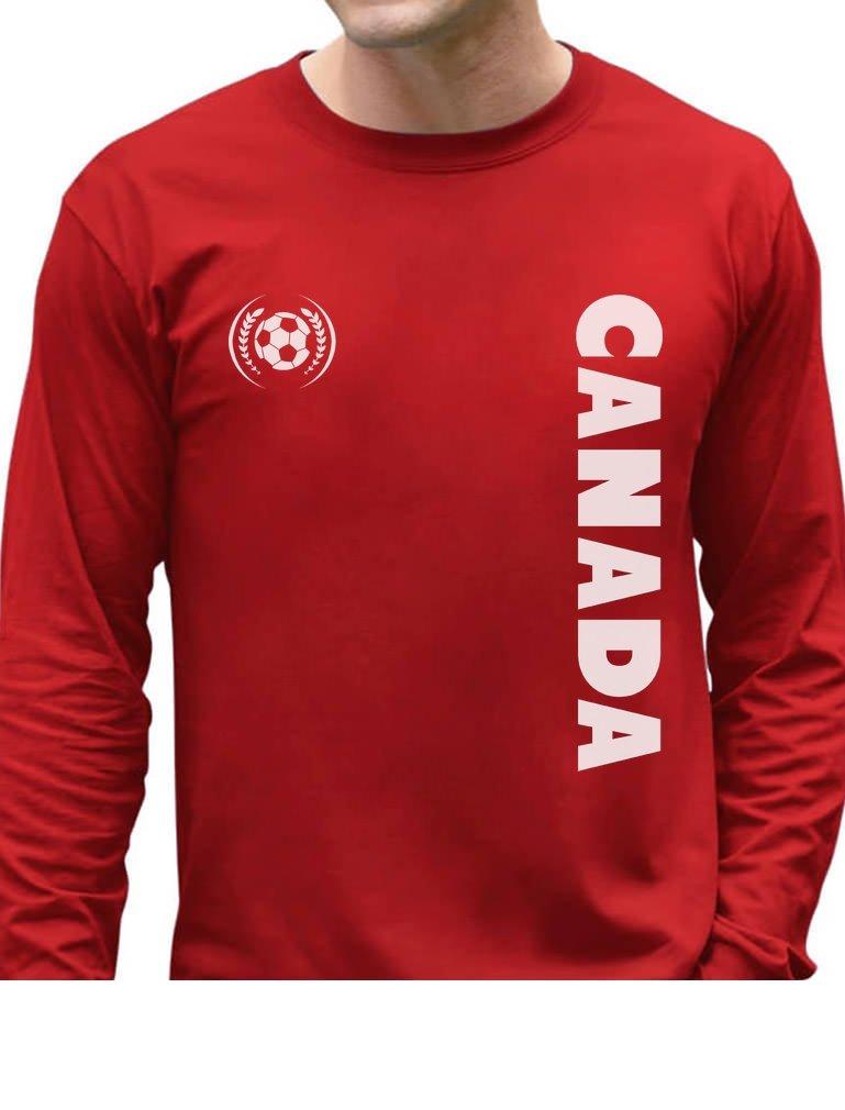 Tstars Canada Day National Football Team Soccer FansLong Sleeve T-Shirt GhPht3MgC