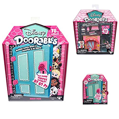 Disney Doorables Mini Stack Playset Jumbeaux's Cafe, Multi Peek and Mini Peek Mystery Bundle