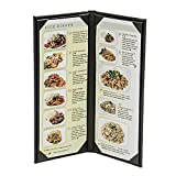 10-Pack 4-1/4'' x 11 ''Classy'' Double Panel Pocket Menu Cover Leatherette
