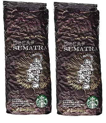 Starbucks Decaf Sumatra, Whole Bean Coffee 2 LBS by Starbucks Whole Bean