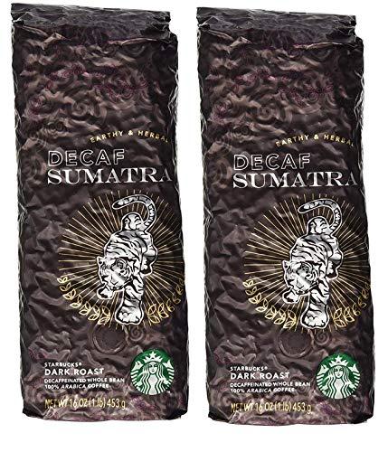 Starbucks Decaf Sumatra, Whole Bean Coffee 2 LBS