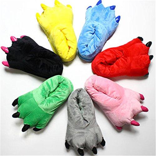 En Griffes Pantoufles Slipper Hommes Hiver Femmes Shoes Peluche Et Yuwell Animal Violet Souple Chaussure nAXt4wqx