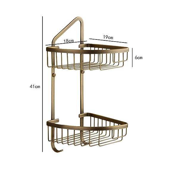 Amazon.com: ZH - Estantería de esquina para baño de 2 ...