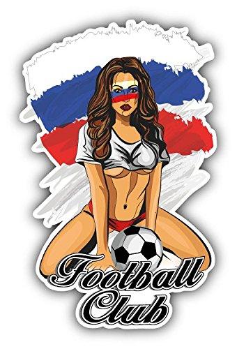 - Russia Flag Soccer Club Fan Girl Home Decal Vinyl Sticker 3'' X 5''