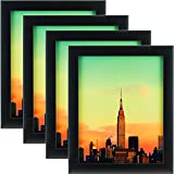 Craig Frames 1WB3BK 8.5 by 11-Inch Picture Frame 4-Piece Set, Smooth Finish, 1-Inch Wide, Black