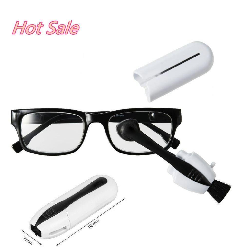Ikevan Lens cleaner New Best Eyeglass Sunglass All In One Glasses Cleaner Brush Glasses Tool