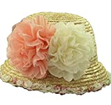Alien Storehouse Stylish Women Summer Straw Hat Beach Hat Sun Hat Wide Brim Hat