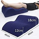 I-sport Memory Foam Elevating Leg Rest Pillow for Back Hip Knee Pain Relief, Foot and Ankle Injury and Recovery Wedge