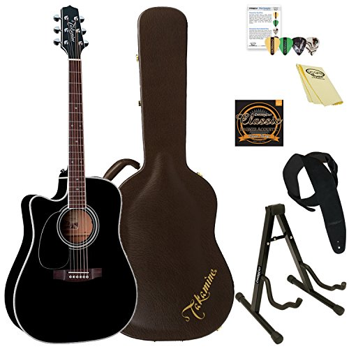 (Takamine EF341SC LH-KIT-2 Left-Handed Solid Cedar Acoustic-Electric Guitar)