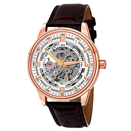 Akribos Xxiv Mens Automatic Watch - akribosxxiv.com Automatic Skeleton Mechanical Men's Watch -