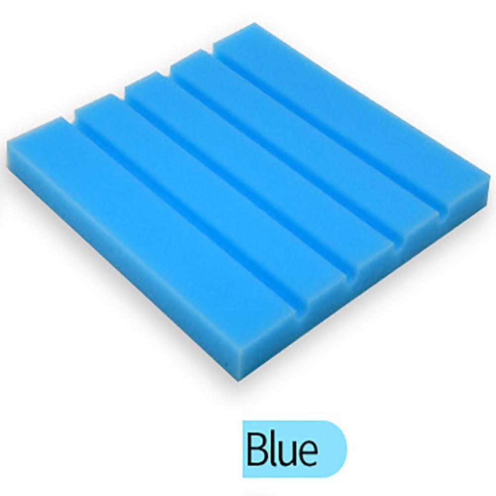 サウンドFoamパネル、vmree 25 x 25 x 2 cm Acoustic Studio KTV Cancellingパネル防音吸収スポンジ One Size vmree-7770 B077GMBFB6  ブルー