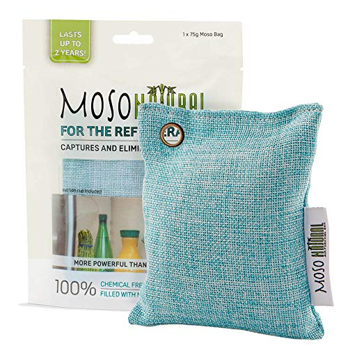 MOSO NATURAL Air Purifying Bag for The Refrigerator. Freezer and Fridge Odor Eliminator. More Powerful Than Baking Soda (Cleaning Mold With Soda Baking)