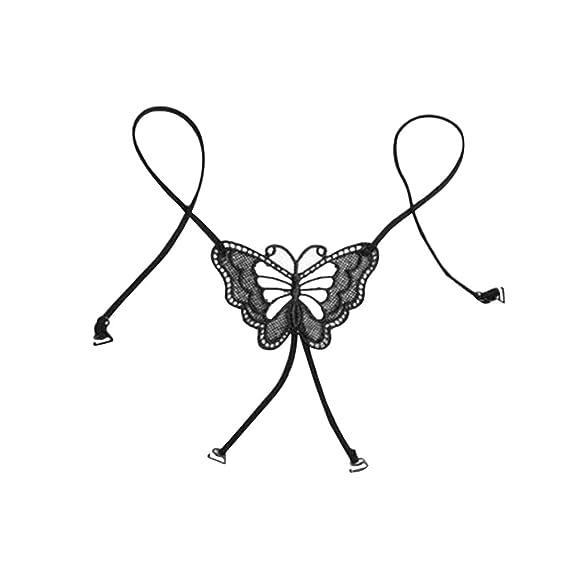 OULII Flor de mariposa de la espalda estirada de encaje sujetador correas de lencería elástica correas de hombro para las mujeres: Amazon.es: Ropa y ...