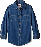 Best Wrangler Clothing For Boys - Wrangler Big Boys' Authentics Long-Sleeve Denim Shirt, Mid Review