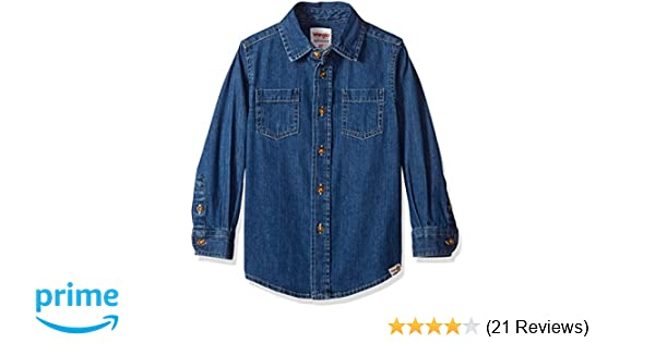 Wrangler toddler baby boys denim jeans SHIRT button down authentic 2T NEW $24.99