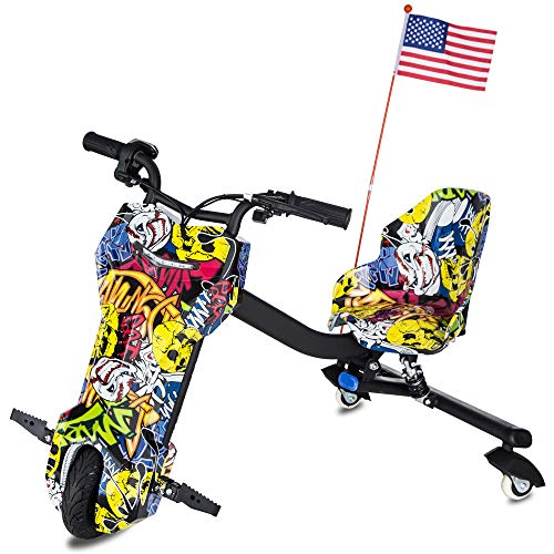 BLITZART APEX Electric Drifting Trike Ride On Car Powered Tricycle Scooter for Kids -