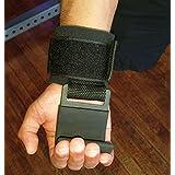 The Beast - Power Weight Lifting Hooks | Military Grade Padded Wrist Wrap | Non Slip Steel Hook